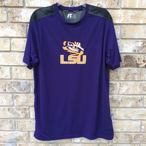 Russell LSU Tigers T-Shirt Short Sleeve Purple